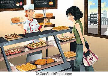 taart, bakkerij, aankoop, winkel