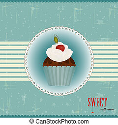 taart, kers, chocolade