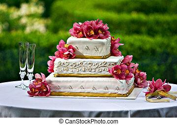 taart, trouwfeest