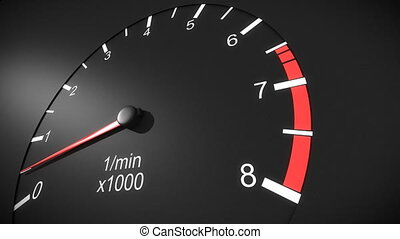 tachometer, auto, hd