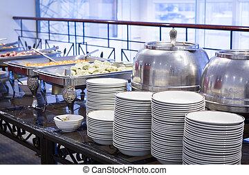 tafel, dishware, buffet