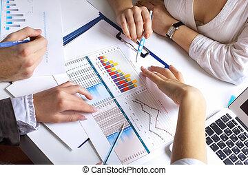 tafel, financieel, papieren