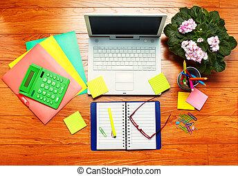 tafel, objects., kantoor