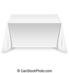 tafel, witte , tafelkleed, rechthoekig