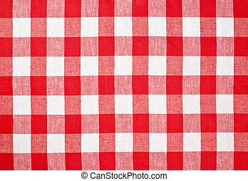 tafelkleed, gecontroleerde, weefsel, rood