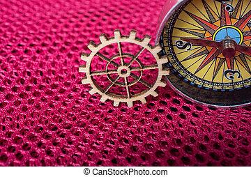 tandwiel, techniek, concept, kompas, wiel