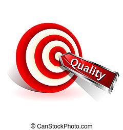 target., concept., meldingsbord, het slaan, vector, pijl, kwaliteit, rood