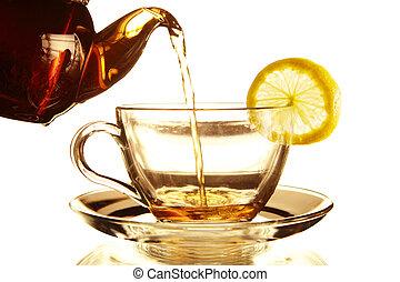 teacup, theepot