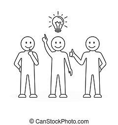 team, idea., werken
