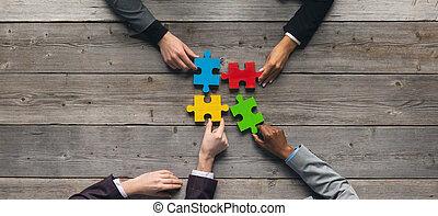 teamwork, raadsel, zakelijk