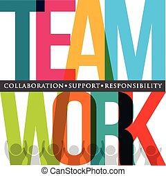 teamwork, typografie