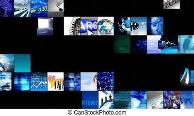 technologie, definitie, digitale animatie, hoog, collage