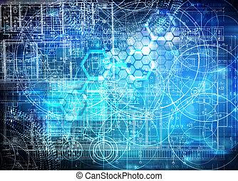 technologie, futuristisch, achtergrond