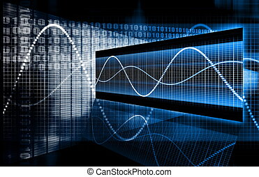 technologie, multimedia, data