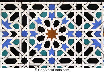 tegel, arabische , achtergrond