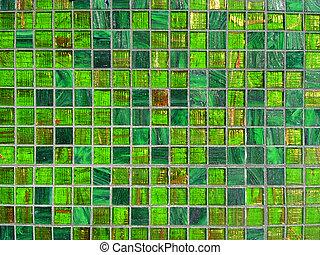 tegels, groene