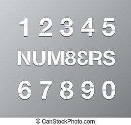 tekst, papier, getal