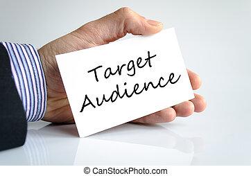 tekst, publiek, concept, doel