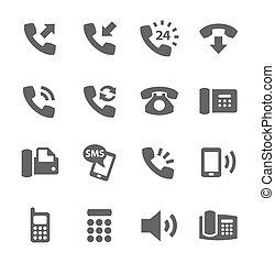 telefoon, iconen
