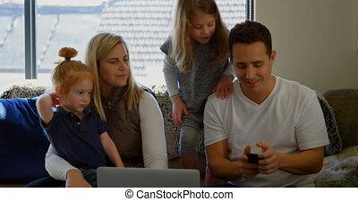 telefoon, levend, beweeglijk, gebruik, 4k, familie kamer