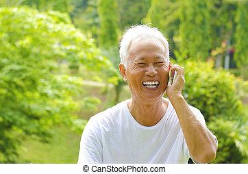 telefoon, senior