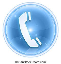 telefoon, vrijstaand, ijs, achtergrond., witte , pictogram