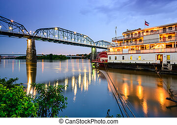 tennessee, riverfront., chattanooga, usa