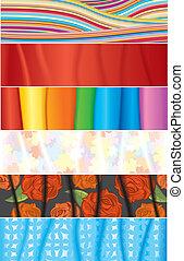 textiel, banieren