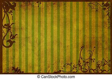 texturen, floral, stijl, achtergronden, frame