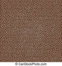 texturen, giraffe, vector, dier huid