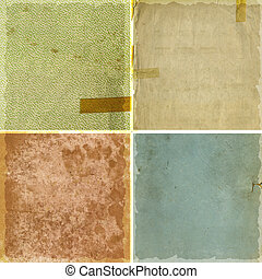 texturen, papier, grunge, verzameling