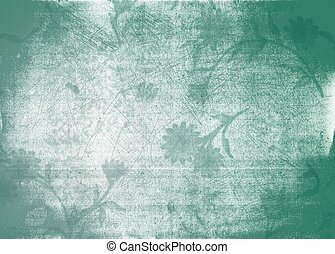textuur, achtergrond, grunge, floral