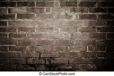 textuur, achtergrond, oud, muur, baksteen