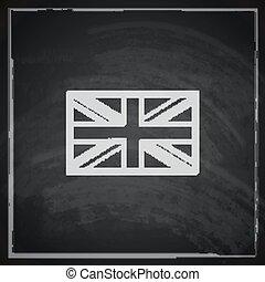 textuur, brits, dommekracht, illustratie, verbond vlag, chalkboard