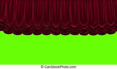 theatergordijnen, achtergrond, rood groen