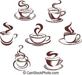thee koffie, koppen