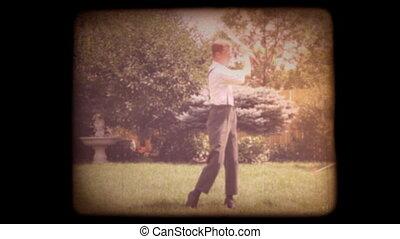 thuis, 8mm, oud, golf, film
