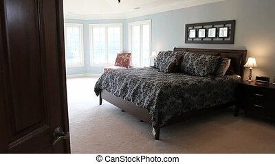thuis, meester, luxe, slaapkamer