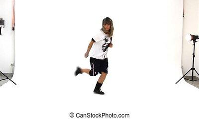 tiener, breakdance, dancing