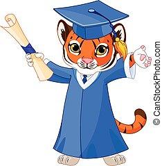 tiger, afgestudeerdeen