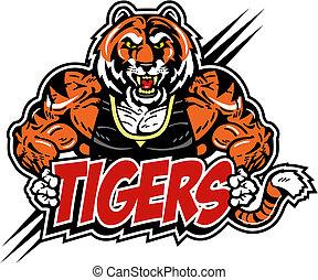 tiger, gespierd, betekenen