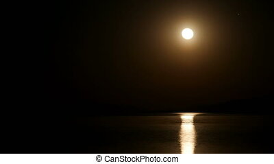 "timelapse, ""moon, rijzen, zoom, nacht, in"""