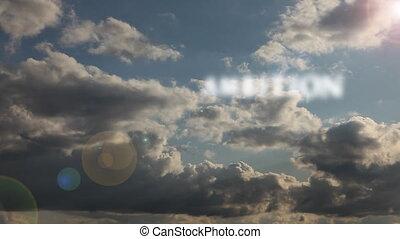 timen-afloop, hard, words:, succes, &, besluit, werken, clouds., ambitie, voorbijgaand, motivatie