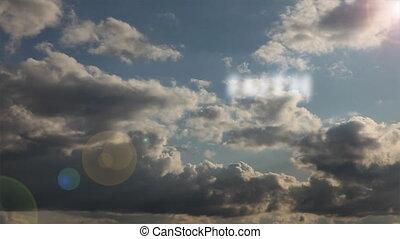 timen-afloop, wolken, geloof, &, liefde, vrede, hemel, accross, hoop, tekst, voorbijgaand, liefdadigheid