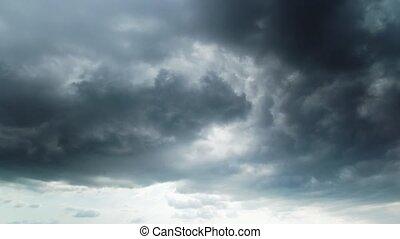 timen-afloop, wolken, storm