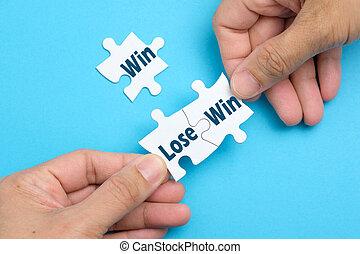 toestand, winnen, raadsel, witte , verliezen