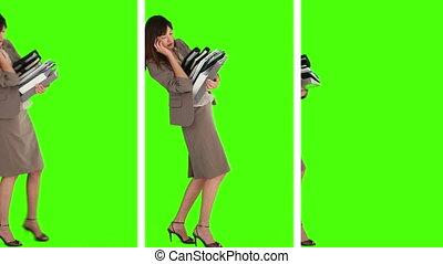 toestanden, boekjes , partij, waar, wij, groenteblik, vasthouden, drie, businesswoman, zien