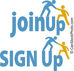 toevoegen, mensen, op, meldingsbord, lid, hulp, groep, pictogram