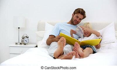 togethe, het boek van de lezing, vader, zoon