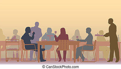 toned, restaurant
